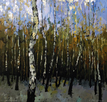 Passing Through Birches